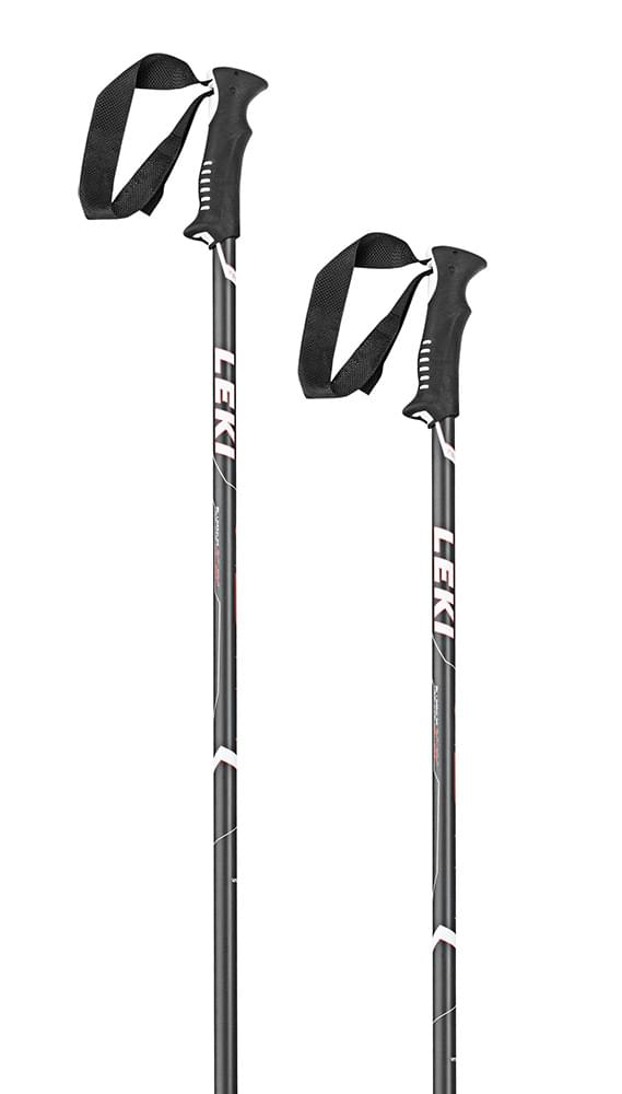 Leki Vista black-white-neonred 135