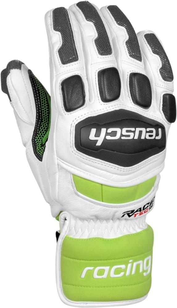 Lyžařské rukavice Reusch Race Tec 14 SG - white neon green - Ski a ... 0c851f40d9