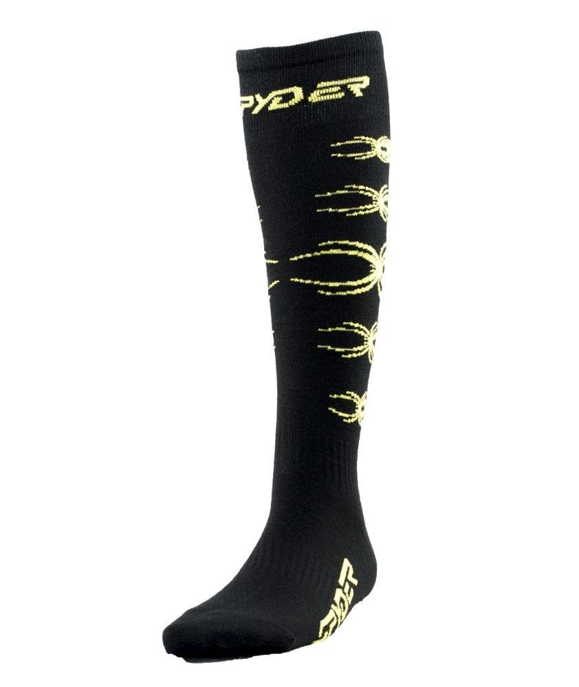 a7d41a7ce94 Chlapecké lyžařské ponožky Spyder Kids Bug Out - black bryte green ...