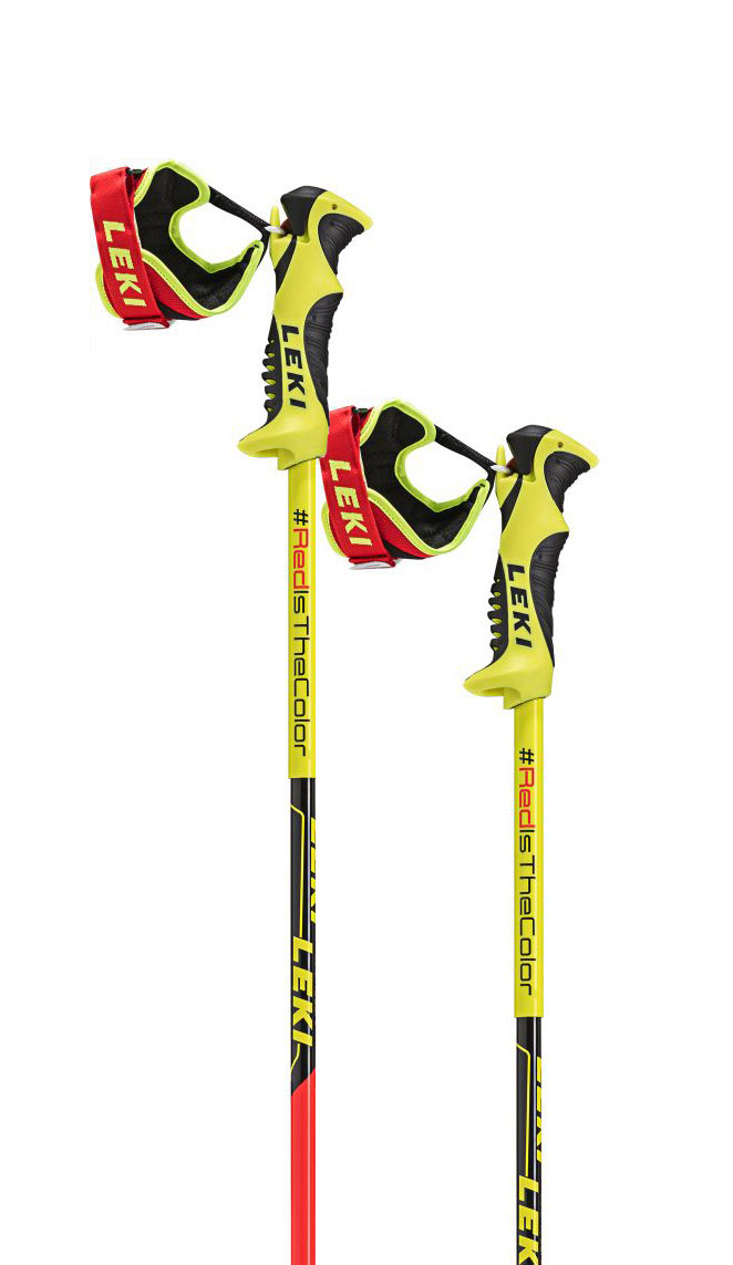 Leki WC Racing Comp Jr. neonred/neonyellow-black-white 115
