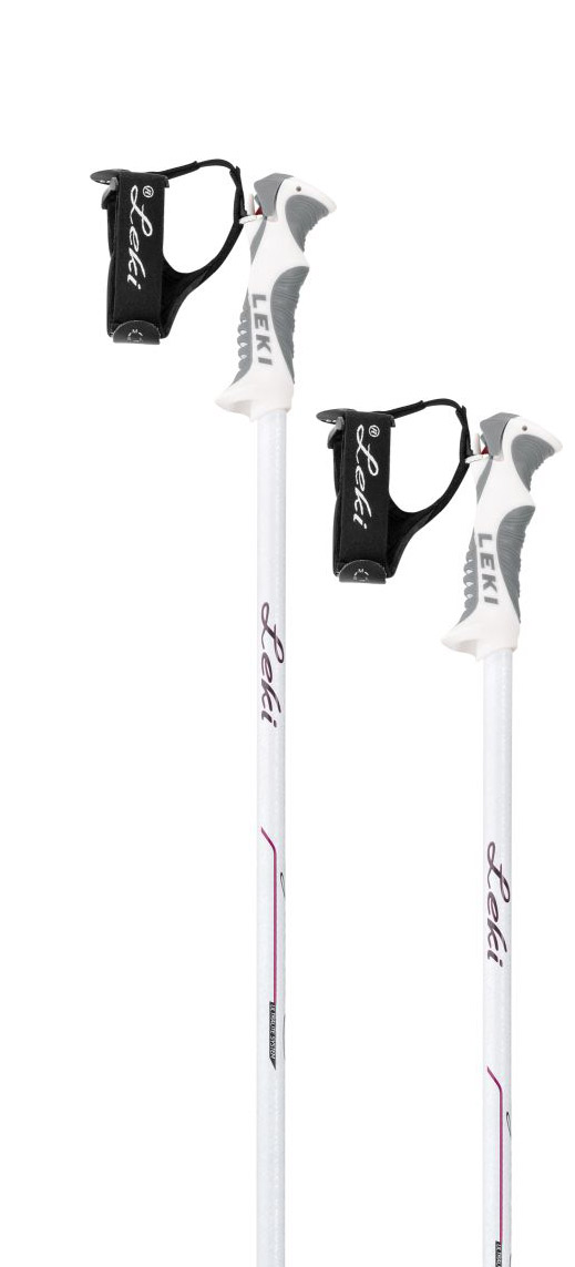 Leki Giulia S - white/anthracite/berry 105