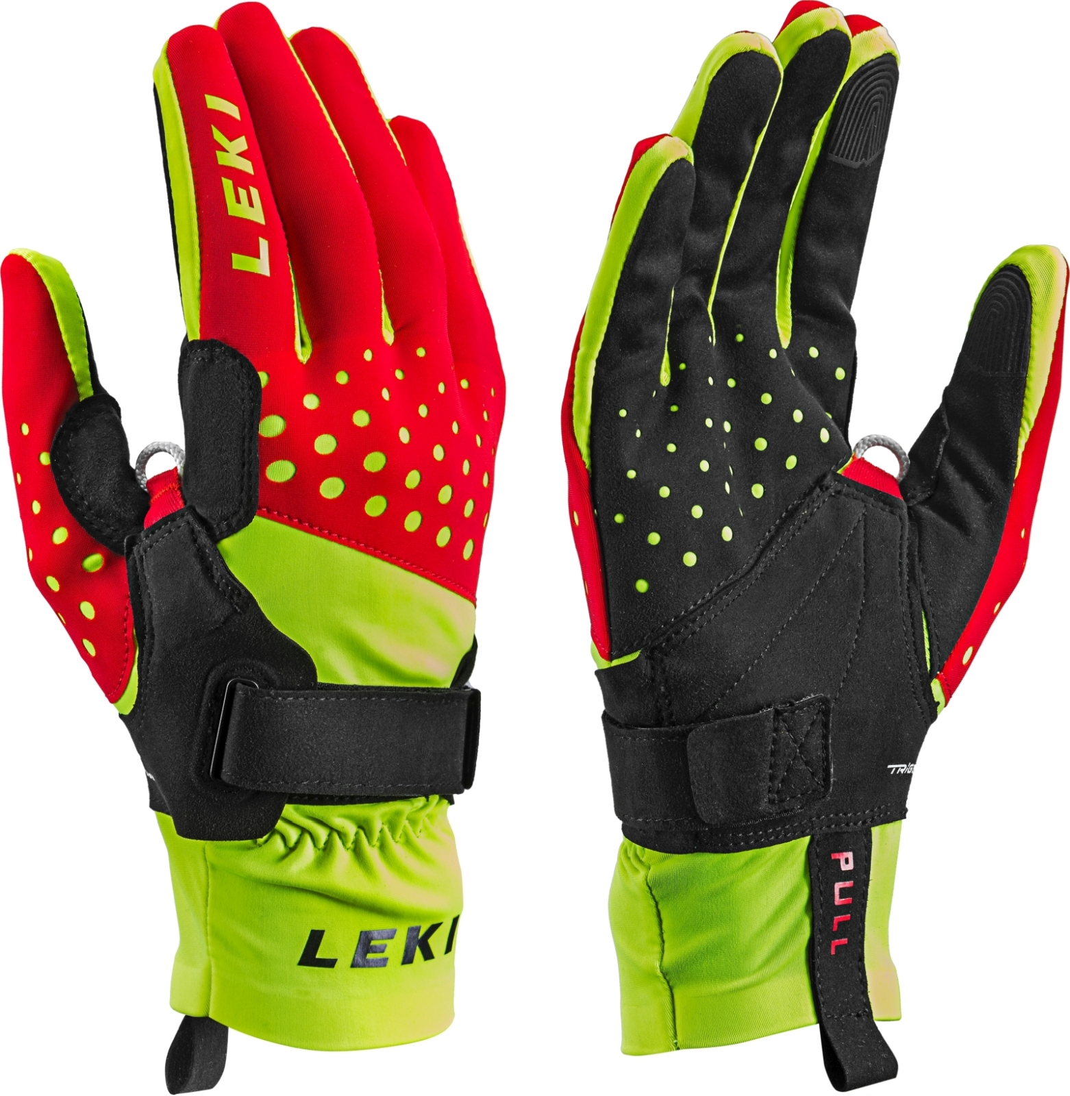 a1a325f5d95 Běžkařské rukavice Leki Nordic Race Shark red-yellow-black - Ski a ...