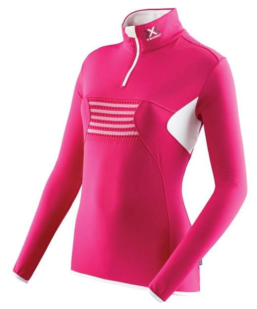 Dámská mikina X-Bionic Lady Raccoon Zip Up - raspberry white - Ski a ... 11e825c123