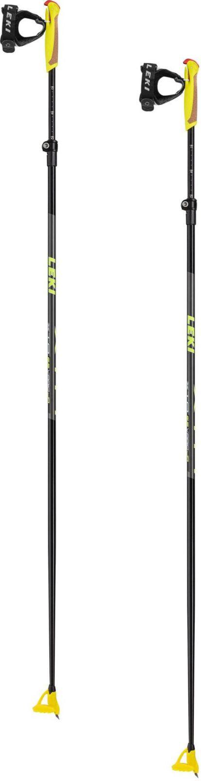 Leki XTA 6.5 Vario Jr. - black/neonyellow/darkanthracite 125-145