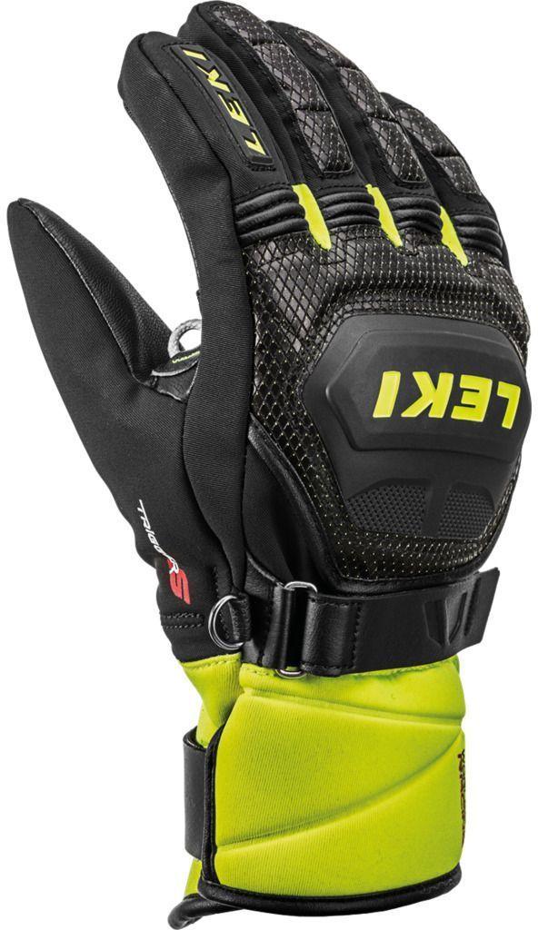 Leki Worldcup Race Coach Flex S GTX Junior - black-ice lemon 4.0