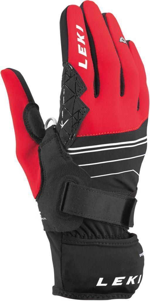 Leki Tour Mezza V Plus Glove - black-red-white 8.5