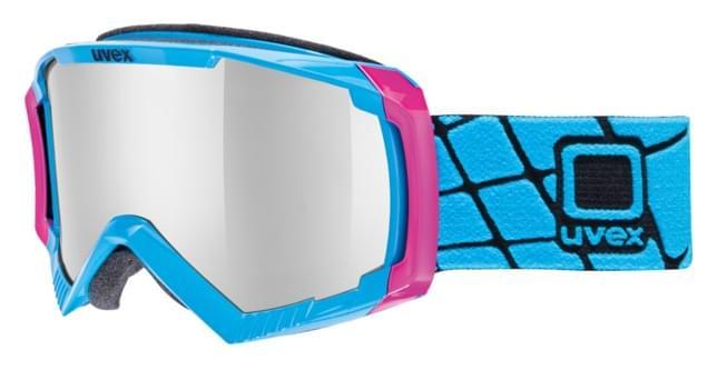 Lyžařské brýle Uvex Apache II - cyan/pink/lite silver uni