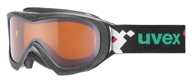 Dětské lyžařské brýle UVEX Wizzard DL - black pacman/lasergold uni