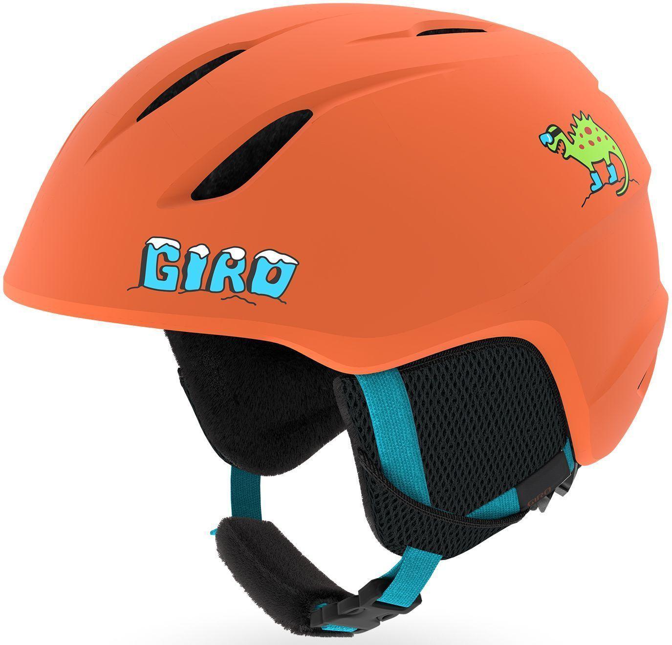Giro Launch - Mat Deep Orange Dino S-(52-55.5)