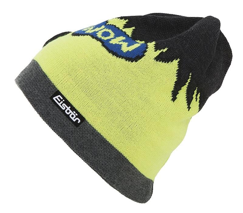 e23027b9e3b Zimní čepice Eisbär Wow OS MU - black yellow uni