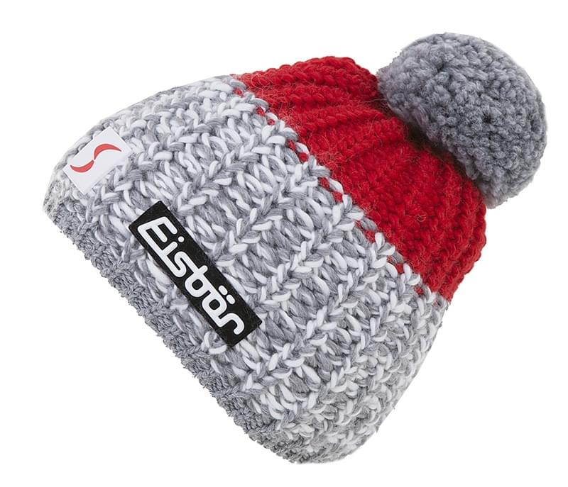 Zimní čepice Eisbär Focus Pompon MU SP - grey red - Ski a Bike ... 9572380b9c