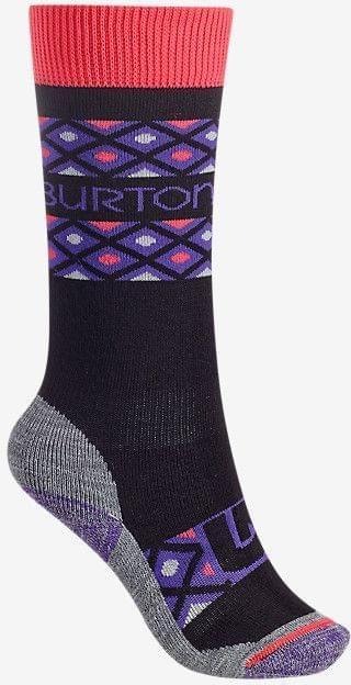 Dívčí lyžařské ponožky Burton Scout - true black S/M