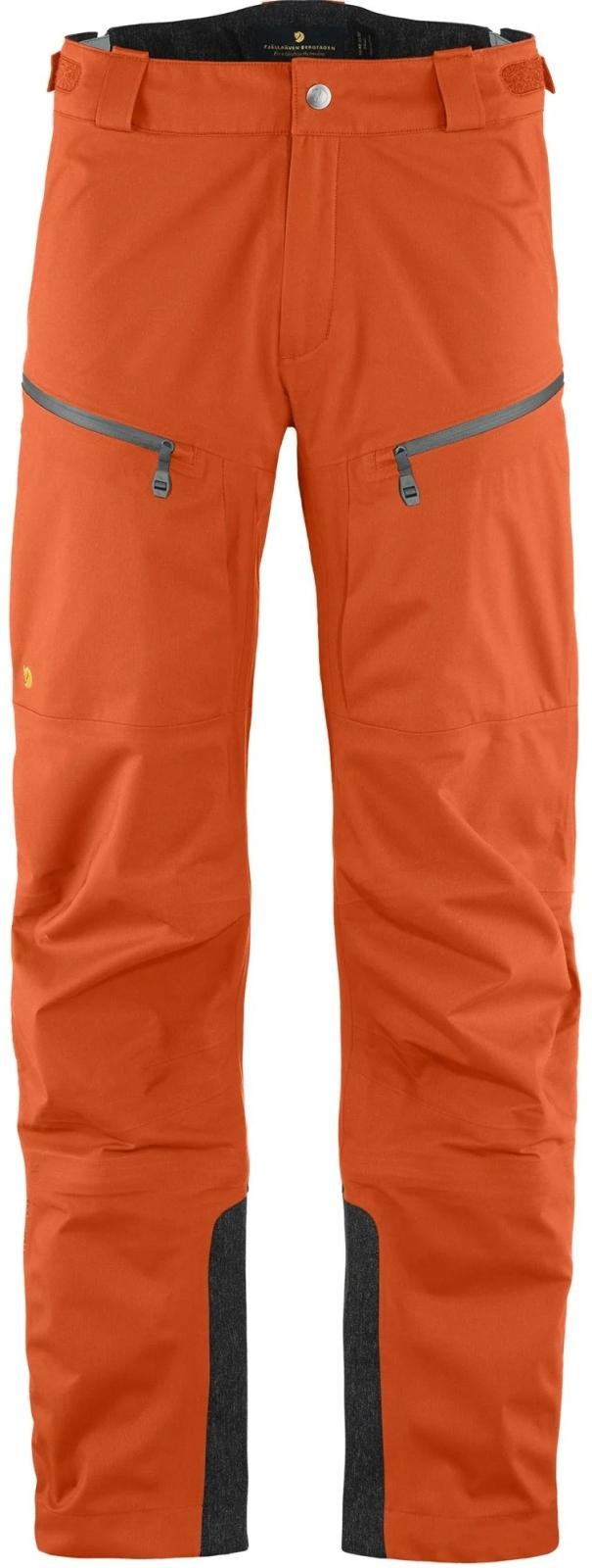 Fjällräven Bergtagen Eco-Shell Trousers M - hokkaido orange L (50)