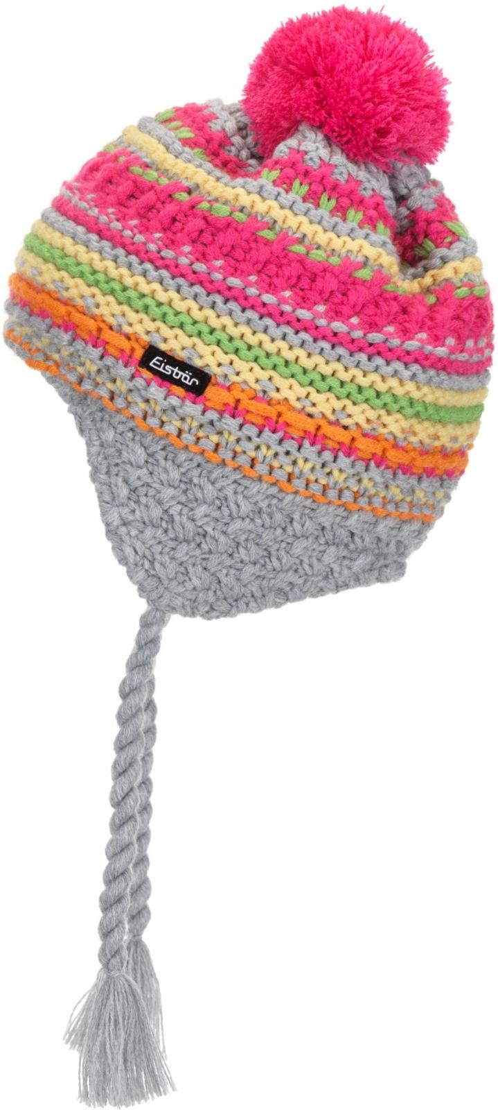 e4d519da0a4 Dětská zimní čepice Eisbär Flax Ear Pompon MÜ kids -  graumele orange gelb pink grün