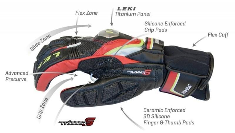 Lyžařské rukavice Leki WC Race Titanium S Speed - black white yellow ... c2e15d1e2f