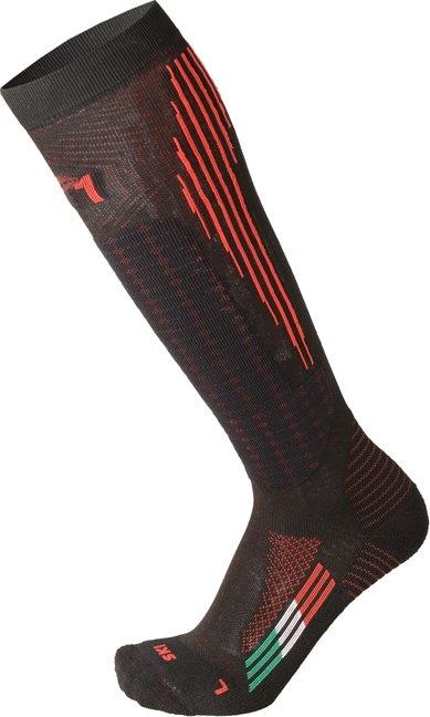Mico Medium Weight M1 Winter Pro Performance Ski Socks - nero rosso 38-40