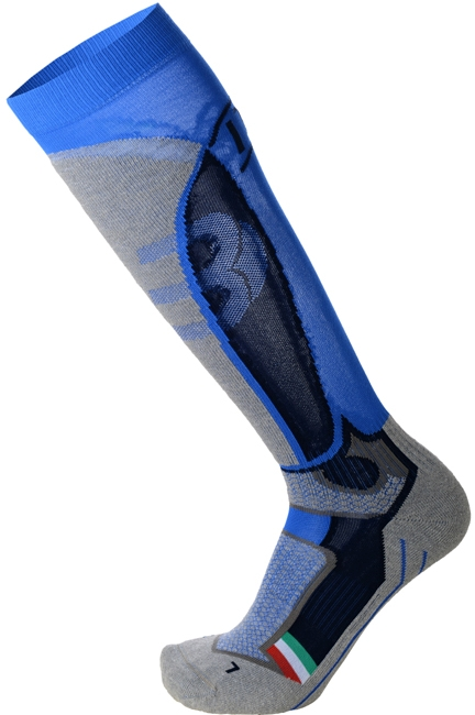 Mico Medium Weight Official Ita Ski Socks - azzurro 47-49