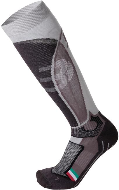Mico Medium Weight Official Ita Ski Socks - argento 47-49