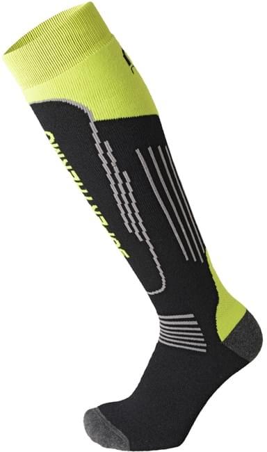Mico Heavy Weight Superthermo Primaloft Kids Ski Socks - nero giallo fluo 36-38
