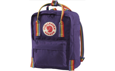 fd761a606f2 Batoh Fjällräven Kanken Rainbow mini - Purple-Rainbow Pattern