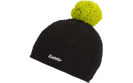 Zimní čepice Eisbär Jamie Pompon MÜ - schwarz lime 7bb271bebf