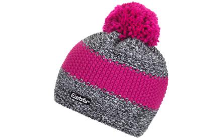 Zimní čepice Eisbär Styler Pompon MÜ - schw weissmele d.pink-d ae483dcb60