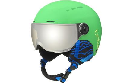 Dětská lyžařská helma Bollé Quiz Visor - matte green grey gun e2798871d06