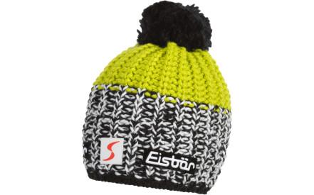 e61a5a38d5d Zimní čepice Eisbär Focus Pompon MÜ SP - schwarz white lime