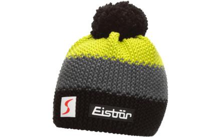 Dětská zimní čepice Eisbär Star Pompon MÜ SP kids - schwarz anthrazit lime b9440c50d7