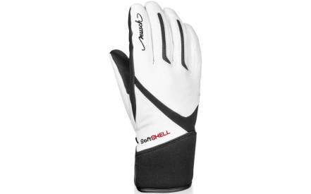 Dámské lyžařské rukavice Reusch Tomke SBX - white black cdb065da30