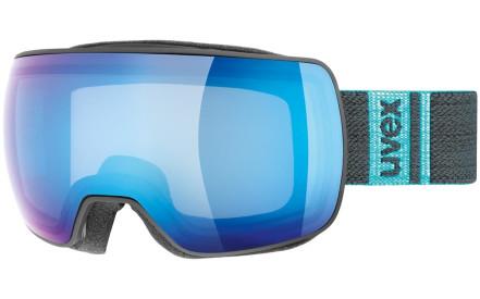 5d71fe6d0 Lyžařské brýle Uvex Compact FM Black Mat DL/mirror blue clear (S2)