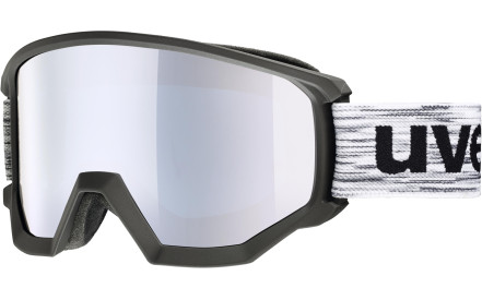 c55e94496 Lyžařské brýle Uvex Athletic FM Black Mat DL/mirror blue blue (S3)