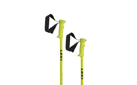 Juniorské sjezdové hole Leki Spitfire Junior metallic neonyellow green-black b9ea06eff8