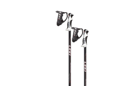 Juniorské sjezdové hole Leki Speed Lite S black white-red-grey 5c213d5817