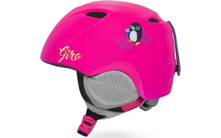 Dětská lyžařská helma Giro Slingshot Mat Bright Pink Penguin d2b2115cc4a