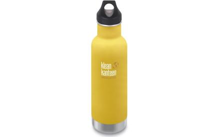 Nerezová termolahev Klean Kanteen Insulated Classic w Loop Cap - lemon curry  592 ml 81cf518e155