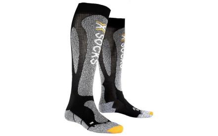 Lyžařské ponožky X-Socks Ski Carving Silver Socks Men - Black Grey Melange baf14a3ecc