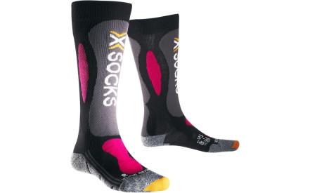 Dámské lyžařské ponožky X-Socks Ski Carving Silver Socks Women -  Black Violet 1197ec4af6