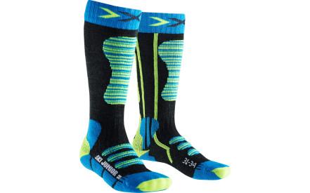 Dětské lyžařské ponožky X-Socks Ski Junior Socks - Turquoise Yellow dddf7dd49e