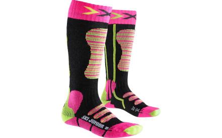 Dětské lyžařské ponožky X-Socks Ski Junior Socks - Fuchsia Yellow 9e9936547c