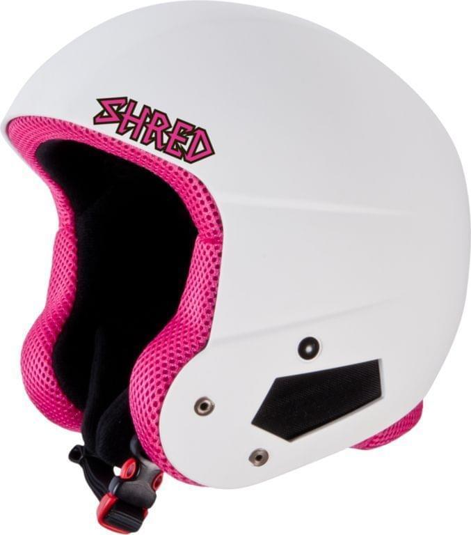 Dětská lyžařská přilba Shred Brain Bucket Whitey Pink - white/pink XS/S