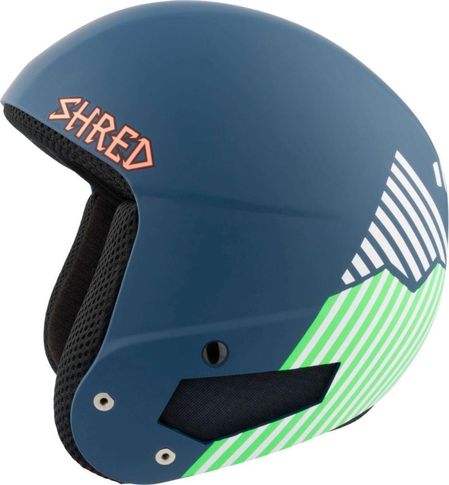 Dětská lyžařská přilba Shred Brain Bucket Needmoresnow - navy blue/green XS/S