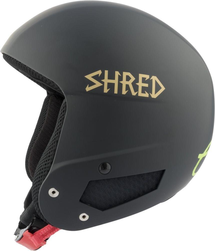 Dámská lyžařská přilba Shred Mega Brain Bucket Rh Lg - Lara Gut Signature - black/gold XS/S