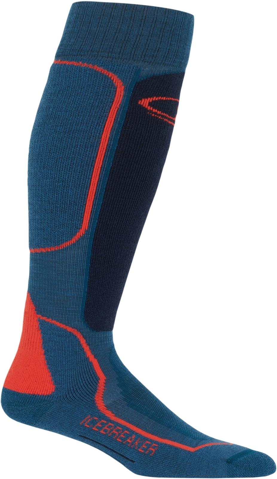 Pánské lyžařské ponožky Icebreaker Mens Ski+ Medium OTC - prussian  blue midnight navy chili red c62ec1c435