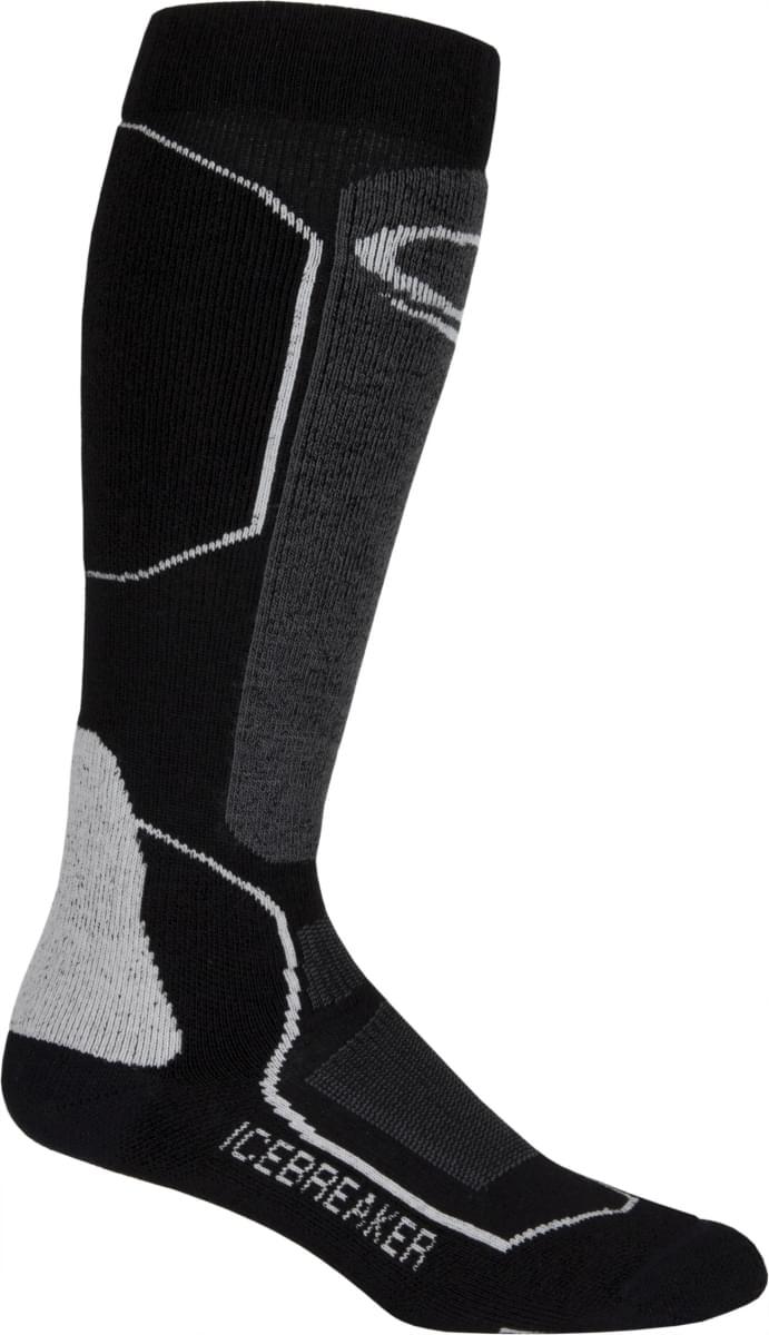 Pánské lyžařské ponožky Icebreaker Mens Ski+ Medium OTC - black oil silver fbc23c2f04