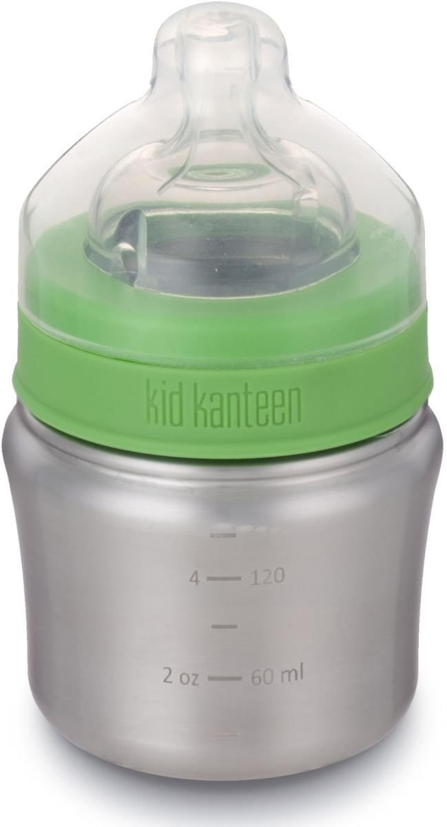 Klean Kanteen Baby Bottle w/Slow Flow Nipple - brushed stainless 148 ml uni