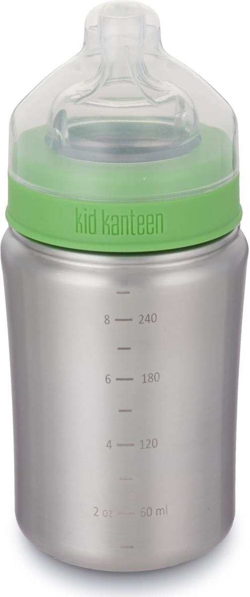 Klean Kanteen Baby Bottle w/Medium Flow Nipple - brushed stainless 266 ml uni