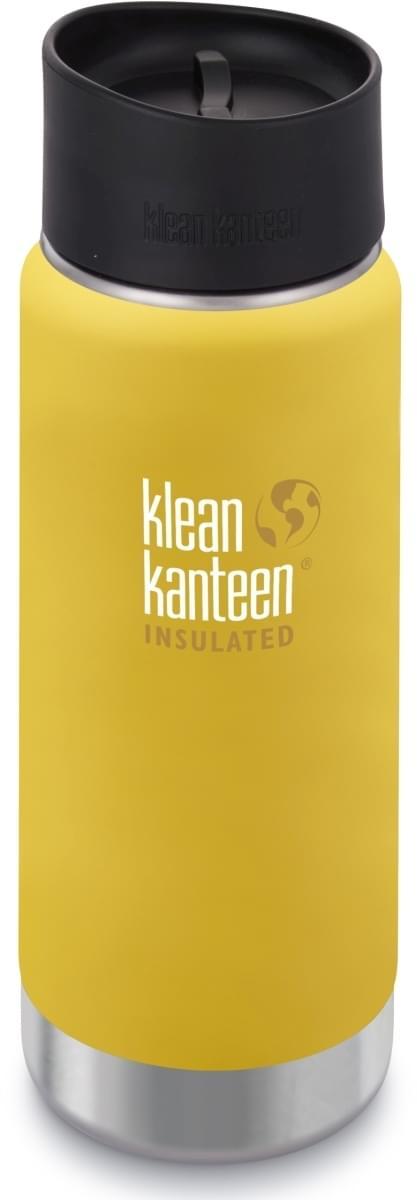 Klean Kanteen Insulated Wide w/Café Cap 2.0 - lemon curry 473 ml uni