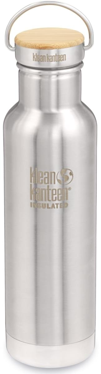 Klean Kanteen Insulated Reflect w/Bamboo Cap - brushed stainless 592 ml uni