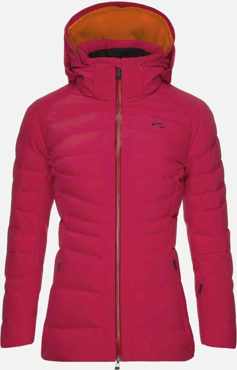 Dámská membránová lyžařská bunda Kjus Women Duana Jacket (no fur) - persian  red 92cff46af2